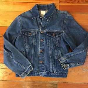 Vintage denim jacket sz M buttons say Steel